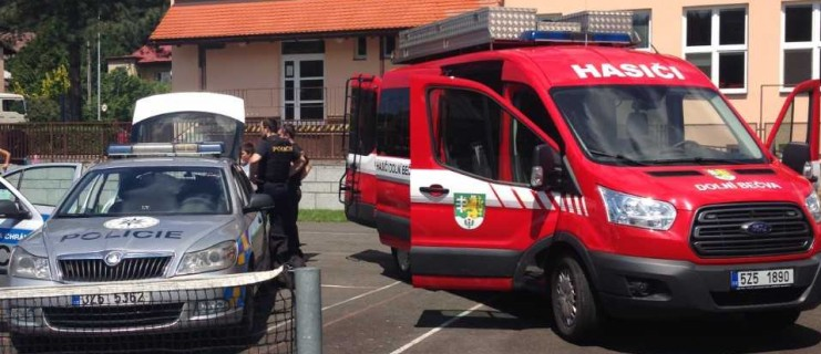 Odpoledne s hasiči a policií