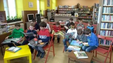 Prvňáčci v knihovně leden 2020